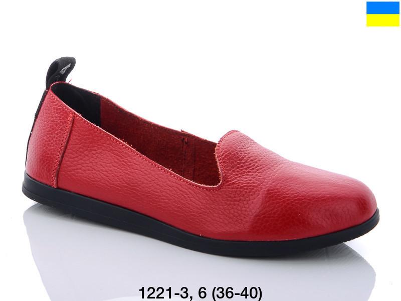 Туфли женские красные Carolina-1221-3