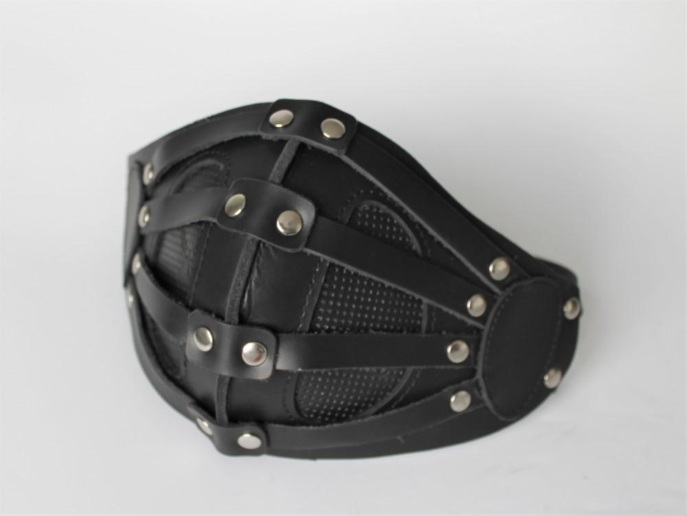 Шкіряна маска MSD Apocalisse Чорна (5915)