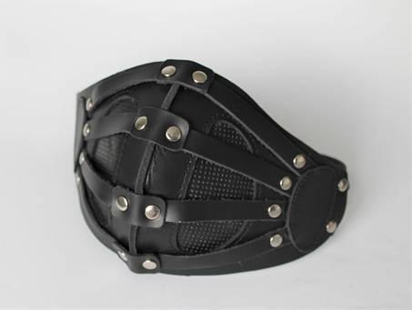 Кожаная маска MSD Apocalisse Черная (5915), фото 2