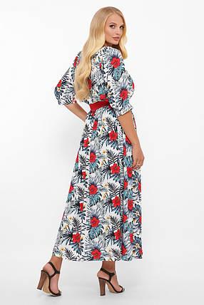 Платье  макси из принтованного штапеля Размеры 52, 54, 56, 58, фото 2