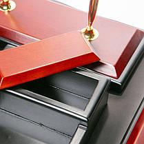 Настільний набір 46*38 см Стокгольм BST 400019 Чорно-коричневий, фото 3