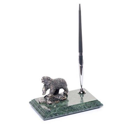 Підставка для ручки мармурова 16х10 см Ведмідь BST 540011, фото 2