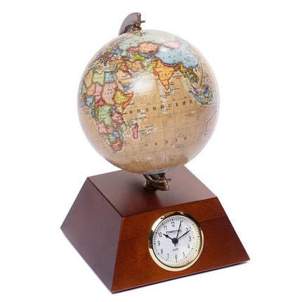Глобус з годинником 110 мм піраміда (рос.) BST 540077, фото 2
