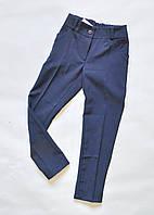 Детские классические школьные брюки для девочек 5-10лет, синего цвета, фото 1