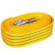 Трос буксировочный ST205 C/ТР-203-2-1  2т лента 46мм х 4,5м  желтый/крюк/блистер (ТР-203-2-1)
