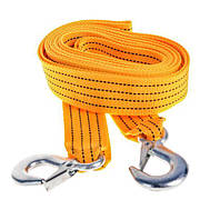 Трос буксировочный ST205/TP-205-3-1   3т лента 46мм х 4,5м  желтый/крюк/блистер (TP-205-3-1)