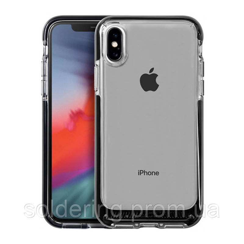 Чехол LAUT FLURO для iPhone XS Max Black (LAUT_IP18-L_FR_BK)