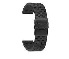 Ремінець-браслет BeWatch шириною 22 мм сталевий універсальний BeWatch Quadro Чорний (1024401), фото 2