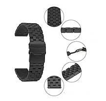 Ремешок-браслет BeWatch шириной 22 мм стальной универсальный BeWatch Quadro Черный (1024401), фото 3