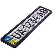 Рамка номера нерж. РНС-75055 з сіткою чорна (РНС-75055)