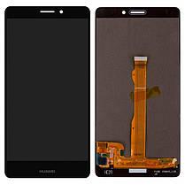 Модуль (сенсор+дисплей) для Huawei MATE S (CRR-L09) чорний, фото 2