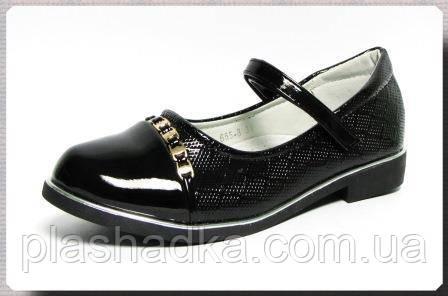 Туфли подростковые для девочки р. 31-37 W.NICO 655-8 черные для школы