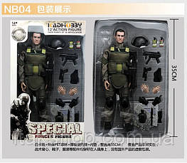 Игрушка солдат с униформой swat 12 action figure, фото 2