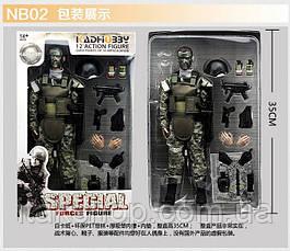 Игрушка солдат с униформой swat 12 action figure, фото 3