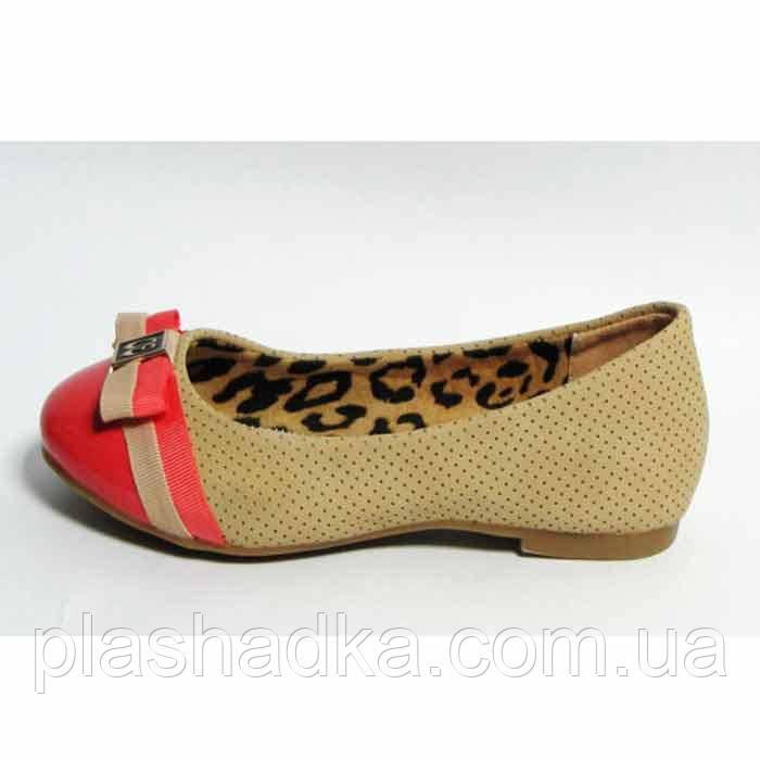 Туфли подростковые для девочки р. 30,31 NEW TLCK 1674 бежевые для школы