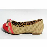 Туфли подростковые для девочки р. 30,31 NEW TLCK 1674 бежевые для школы, фото 1