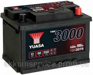 Аккумулятор автомобильный Yuasa SMF 60AH R+ 550А YBX3075