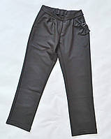 Детские классические школьные брюки для девочек 6-12лет, черного цвета
