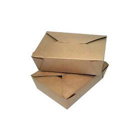 Контейнер бумажный FOLDPACK BIOPACK 300 шт/уп Коричневый (42238)