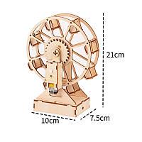 """Дерев'яний конструктор """"Колесо огляду з мотором"""" 3D пазл"""