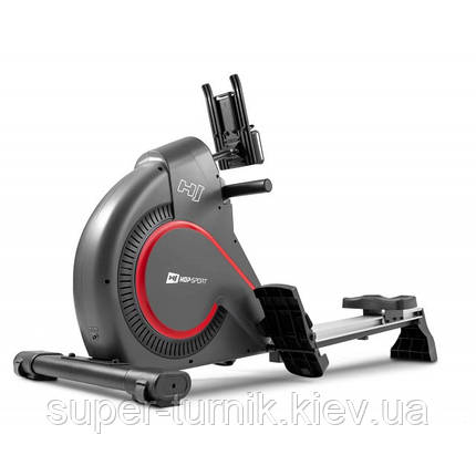 Гребний тренажер Hop-Sport HS-095R Spike Gray+ мат, фото 2