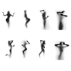 Силуэт девушки - Фотопечать скинали каталог