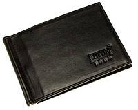 Зажим для денег Butun 250-024-001 кожаный черный