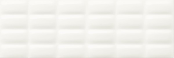 Плитка Opoczno / White Glossy Pillow Structure  25x75