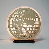 Соляной светильник круглый Глобус, фото 3