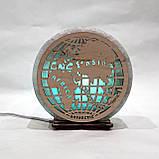 Соляной светильник круглый Глобус, фото 5