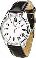 """Часы ZIZ с обратным ходом """"Возвращение"""" (ремешок насыщенно - черный, серебро) + дополнительный ремешок (5118553)"""
