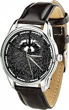 """Часы """"Енот"""" (ремешок насыщенно - черный, серебро) + дополнительный ремешок (4612253)"""