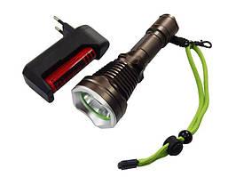 Фонарь светодиодный аккумуляторный водонепроницаемый (1 LED, зарядка 220V)