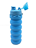 Силиконовая складная бутылка 500 мл / Бутылка трансформер для воды, фото 4