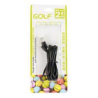 USB Cable Golf Light Speed iPhone 6 Black (GC-01i) 2m