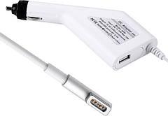 Автомобильный блок питания Dellta для ноутбука Apple (16.5V 60W 3.65A) MagSafe 1 L pin