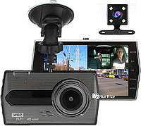 Автомобильный видеорегистратор UKC CSZ-Z27 WDR Full HD 1080P 2 камеры Black