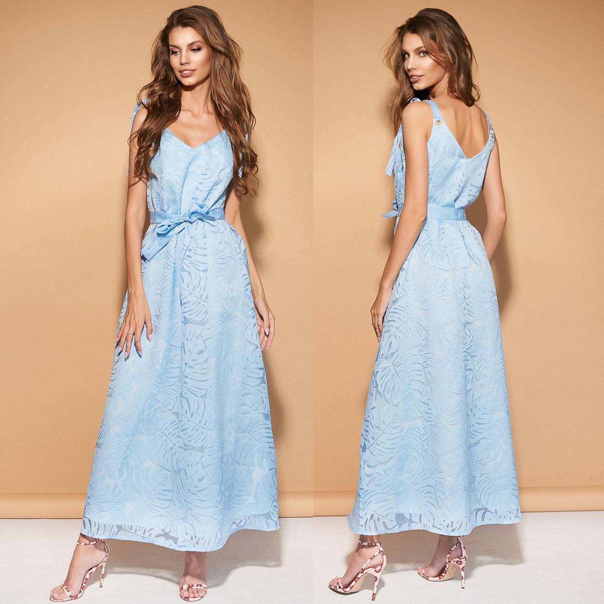 """Сукню блакитного кольору довге літнє норма і батал """"Асторія"""""""