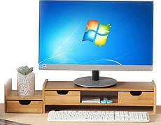 Бамбуковая подставка для монитора Органайзер рабочего пространства BS01 - 223334
