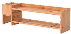 Бамбуковая подставка для монитора Органайзер рабочего пространства BS02 - 223335