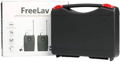 Беспроводной петличный радиомикрофон, радиопетличка freelav для камер и телефонов, фото 2