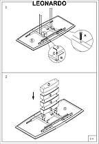 Стол кухонный обеденный на кухню столовый раскладной белый LEONARDO 160х90(220) (Signal), фото 3