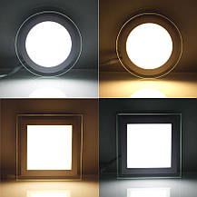 Светодиодный встраиваемый светильник круг стекло 15W 4200K Clara-15 Horoz Electric HL689LG, фото 2