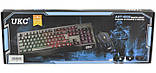 Комплект проводная клавиатура и мышка с LED подсветкой KEYBOARD UKC 4958, фото 7