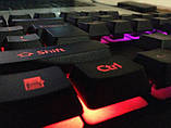 Комплект проводная клавиатура и мышка с LED подсветкой KEYBOARD UKC 4958, фото 4