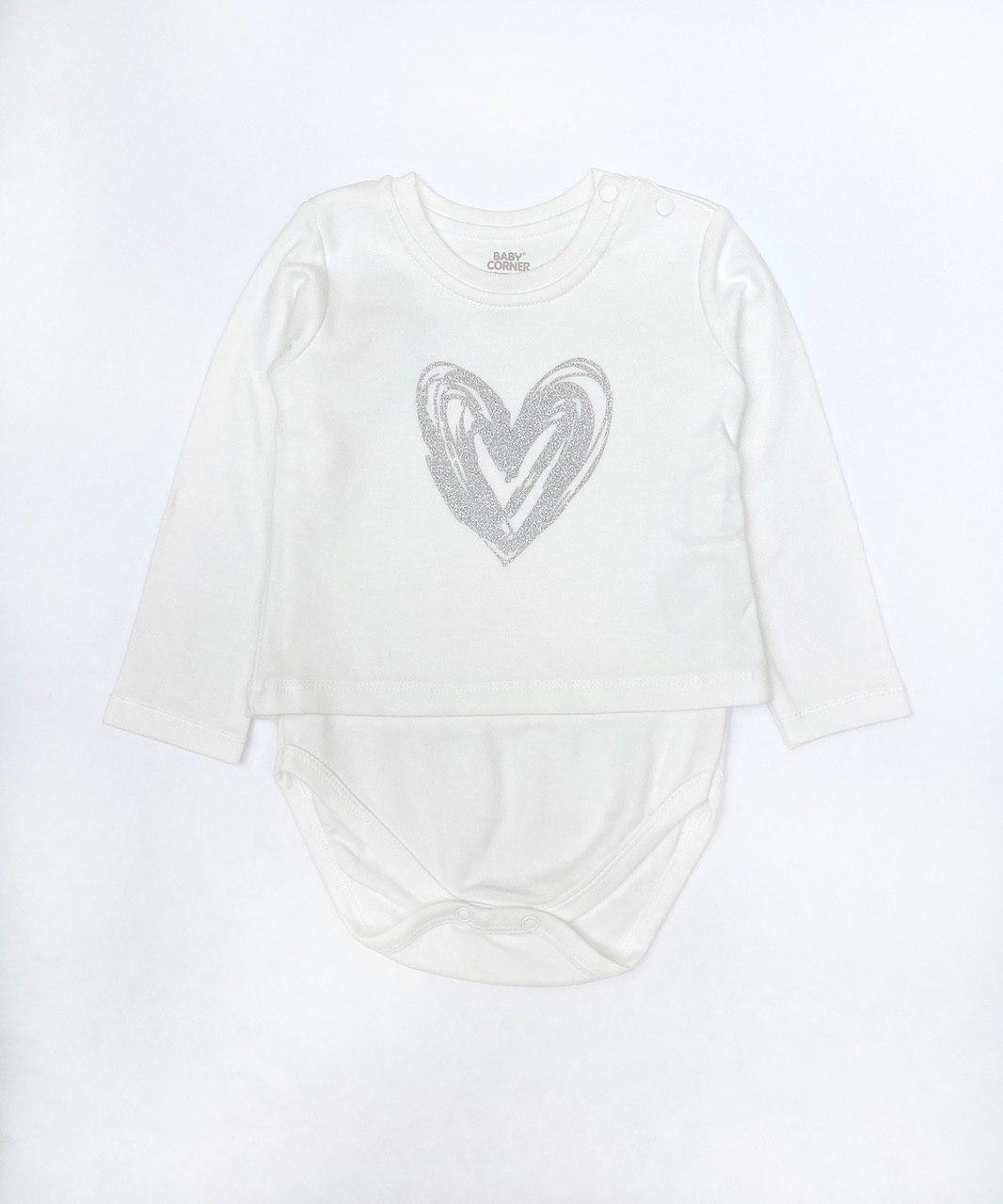 Боді з футболкою для дівчинки, розміри 6 міс і 2 роки