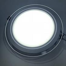 Светодиодный встраиваемый светильник круг стекло 15W 6400K Clara-15 Horoz Electric HL689LG, фото 3