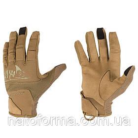 Тактические перчатки Helikon-Tex® Range Tactical Gloves Hard, Coyote/Adaptive Green