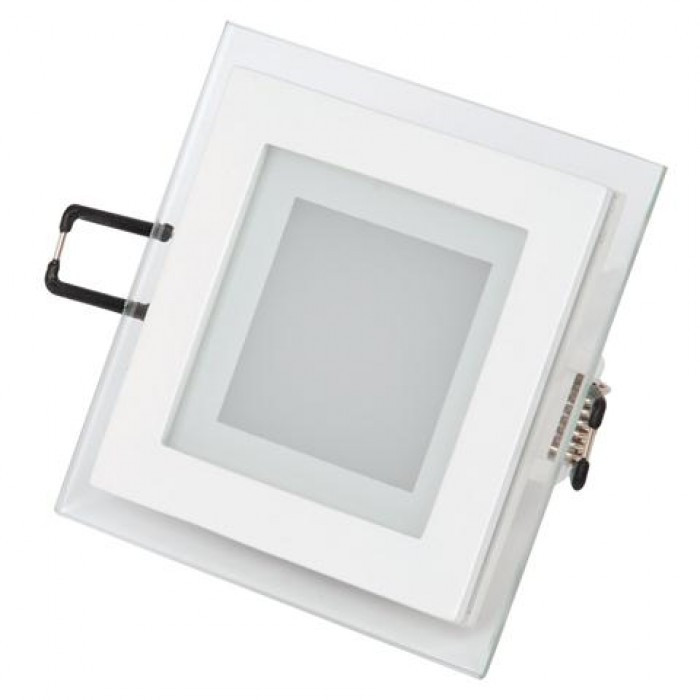 Светодиодный встраиваемый квадратный светильник стекло 6W 6400K Maria-6 Horoz Electric