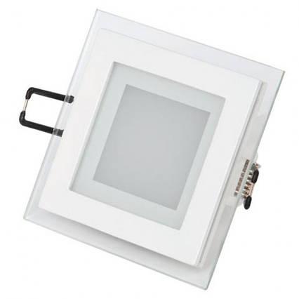 Светодиодный встраиваемый квадратный светильник стекло 6W 6400K Maria-6 Horoz Electric, фото 2